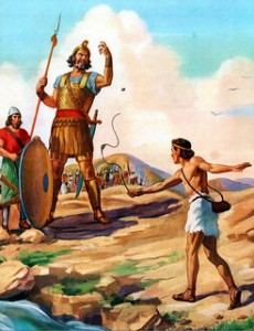 David fighting Goliath